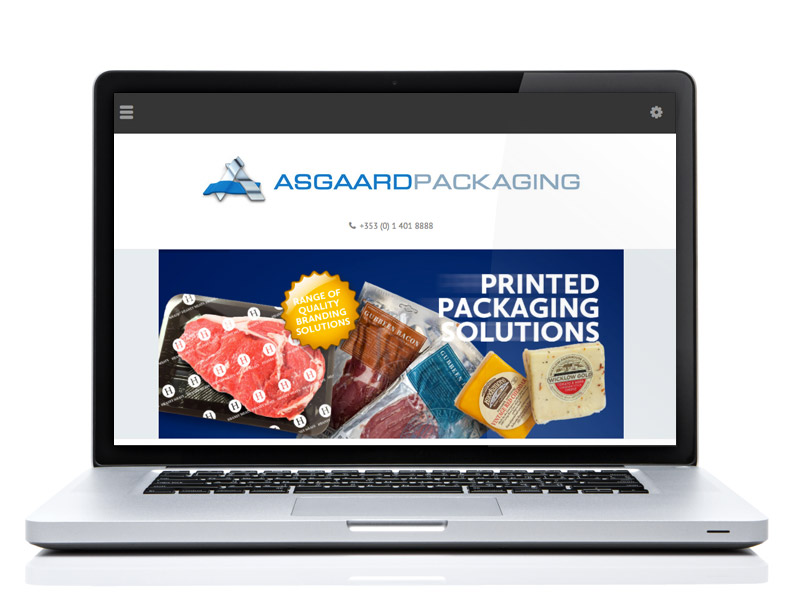 Detail from the home page of the Asgaard Packaging website.