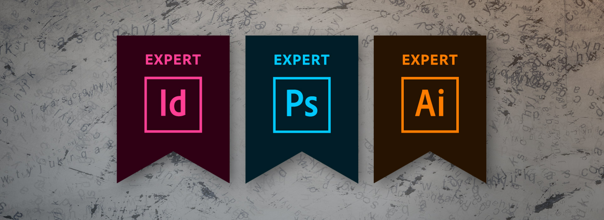 Adobe Certified Expert badges.